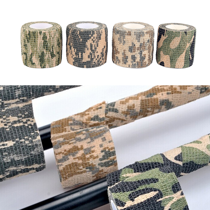 1 Roll ACU Camo Tape Adhesive Camouflage Stealth Rifle Gun Wrap 5cm X 4.5m Outdoor Camo Stretch Bandage Camping Hunting Sticker
