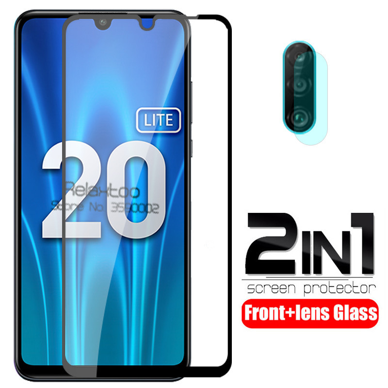Honor 20 Lite Glass 2 In 1 Camera Lens Protective Glass For Huawei Honor 20 Light MAR-LX1H 6.15'' Xonor 20lite Honor20 Lite Film