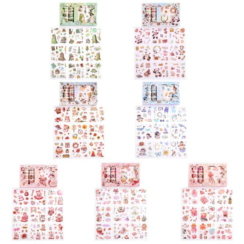 animal dos desenhos animados bonito washi fita de papel japones adesivos conjunto adesivo mascara etiqueta scrapbooking