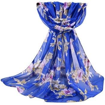 2020 new autumn Winter Women Printed Soft Chiffon Shawl Wrap Wraps Scarf Scarves Ladies pastoral chiffon scarves scarves  #927 2