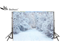 Beebuzz photo backdrop white snow background in winter
