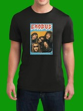 Exodus Logo Design Music Metal Tour T Shirt(1)(China)
