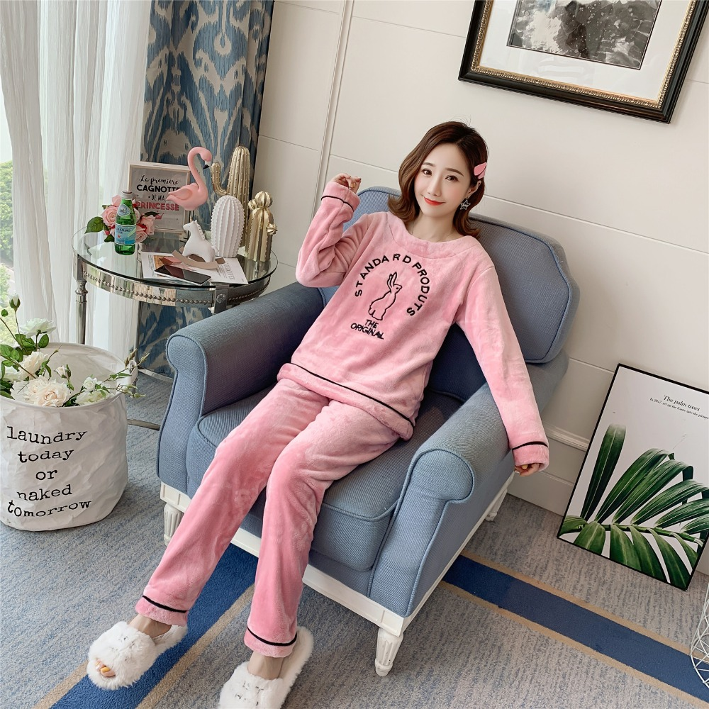 Betyline 2019 New Winter Pajamas For Women Sleepwear Warm Flannel Long Sleeves Pajamas Cute Animal Homewear Thick Homewear 155