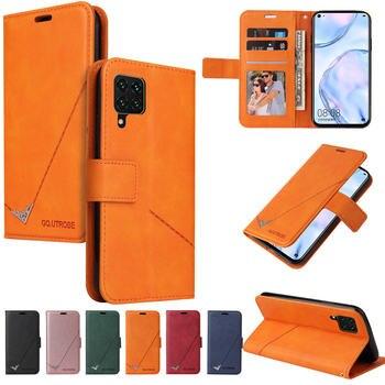 Luxury Case For Samsung Galaxy A12 A02S Retro Shell for Galaxy A21 S A51 A71 A31 A01 Core A41 Card Cover Galaxy M31 21 S M11 Bag