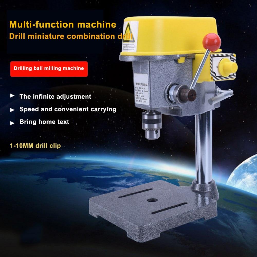 Aletler'ten Sondaj Makinesi'de 220V Mini elektrikli matkap 5168E DIY değişken hız mikro matkap basın makinesi 450W tezgah kaliteli elektrikli delme makinesi title=