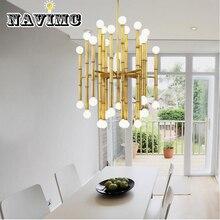 Современный изготовленный из кованого железа Минималистичная мода Арт Деко светодиодный люстра спальня гостиная кухня освещение