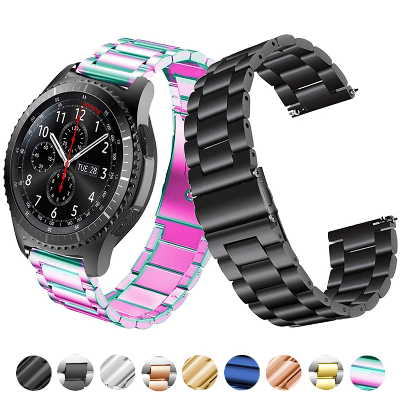 Watch Band Strap For SAMSUNG Galaxy Watch 42mm 46mm GEAR S3 Active2 Classic Quick Release Stainless Steel 18mm 22mm 20mm 24mm