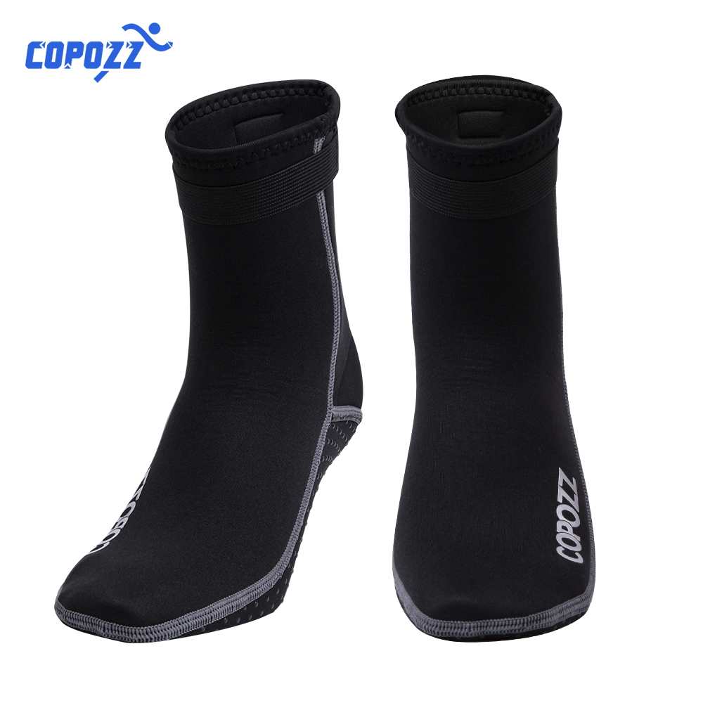 Copozz 3mm Neoprene Beach Swimming Diving Socks Water Sport Anti Slip Shoes Swim Surfing Diving Surfing Socks Beach Boots