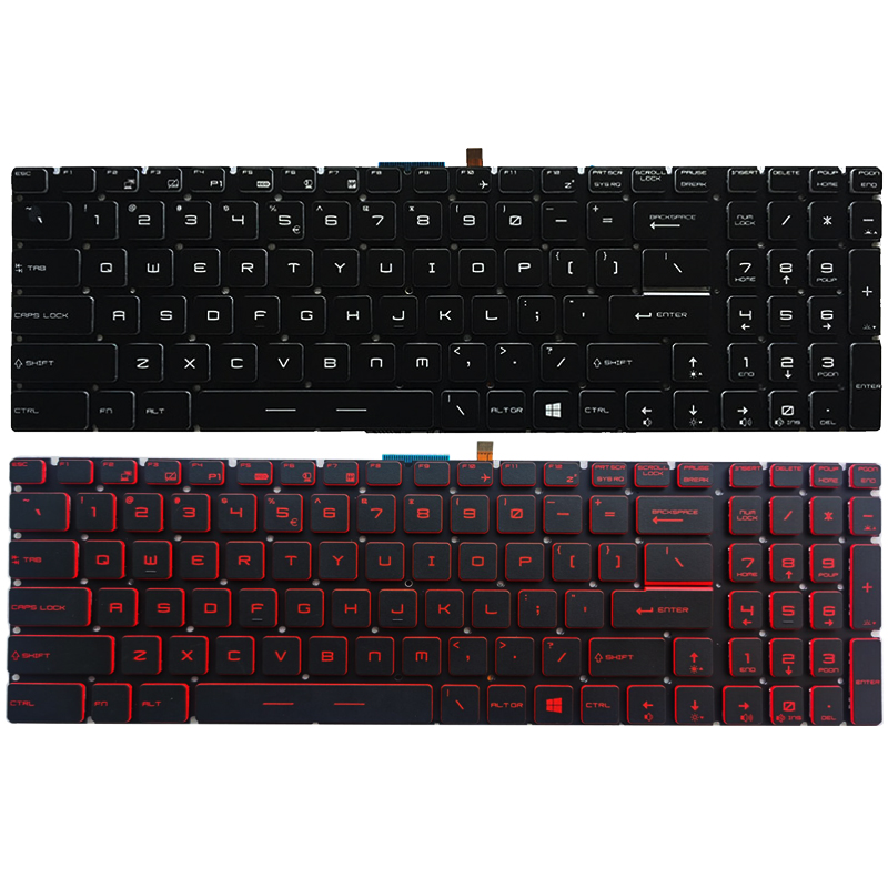 NEW US Laptop Keyboard For MSI GT62VR GT72 GT72S GT72VR GS73VR GT73VR US Keyboard