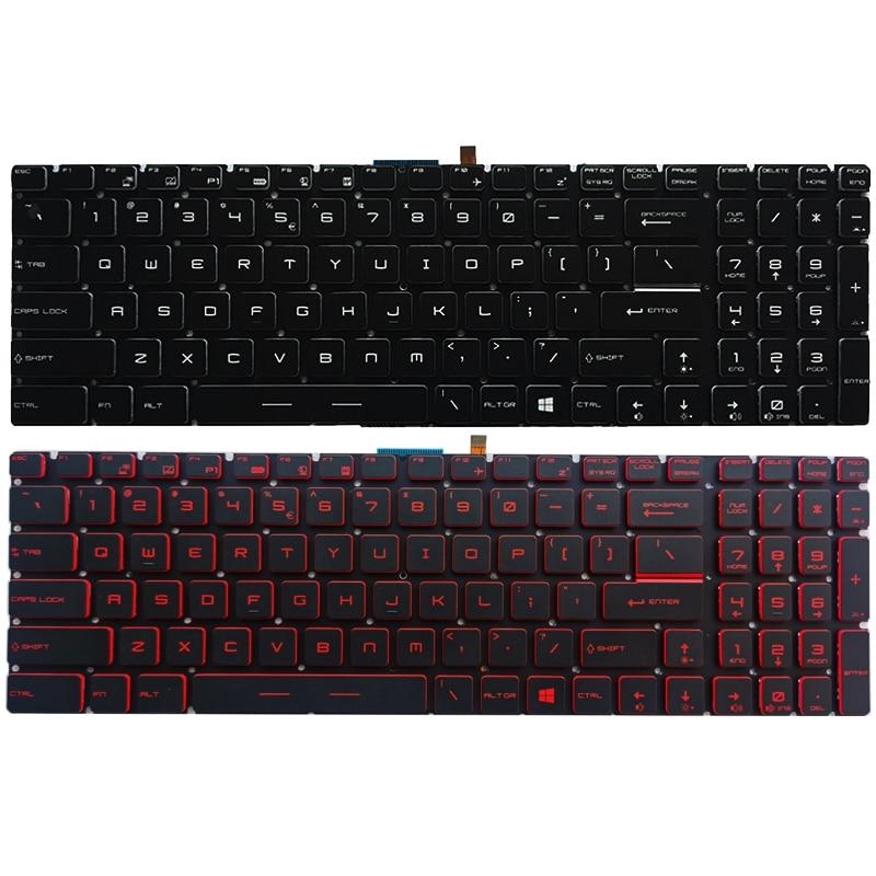 NEW US Laptop Keyboard For MSI GT62VR GT72 GT72S GT72VR GS73VR GT73VR US Keyboard