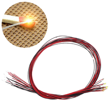 10Pcs 20cm T0603wm soldered micro litz wired leads warm white smd led 0603