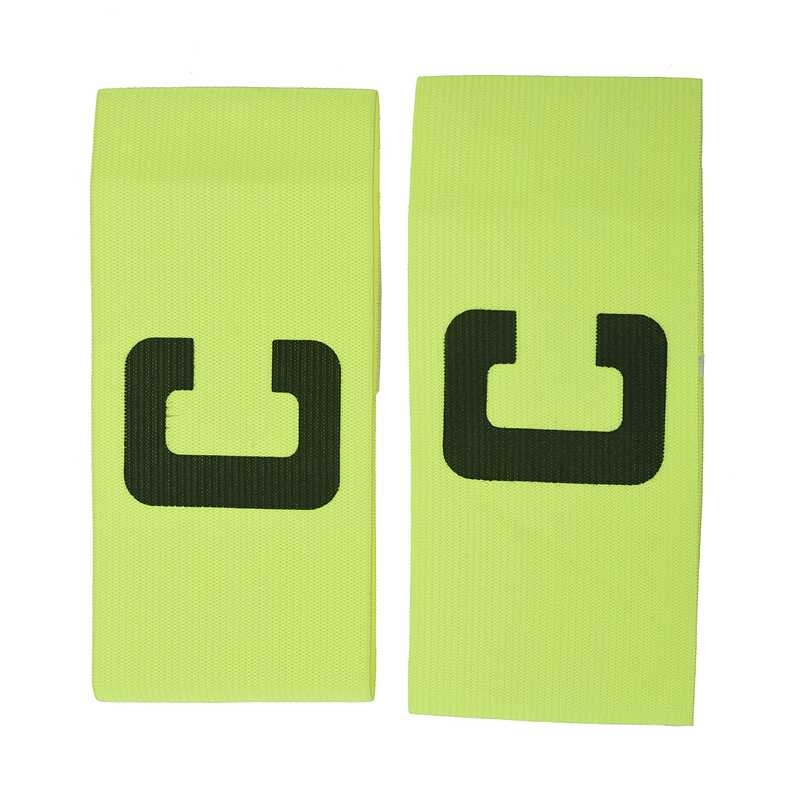 2x Elastic C Prints Football Soccer Player Captain Armband Green