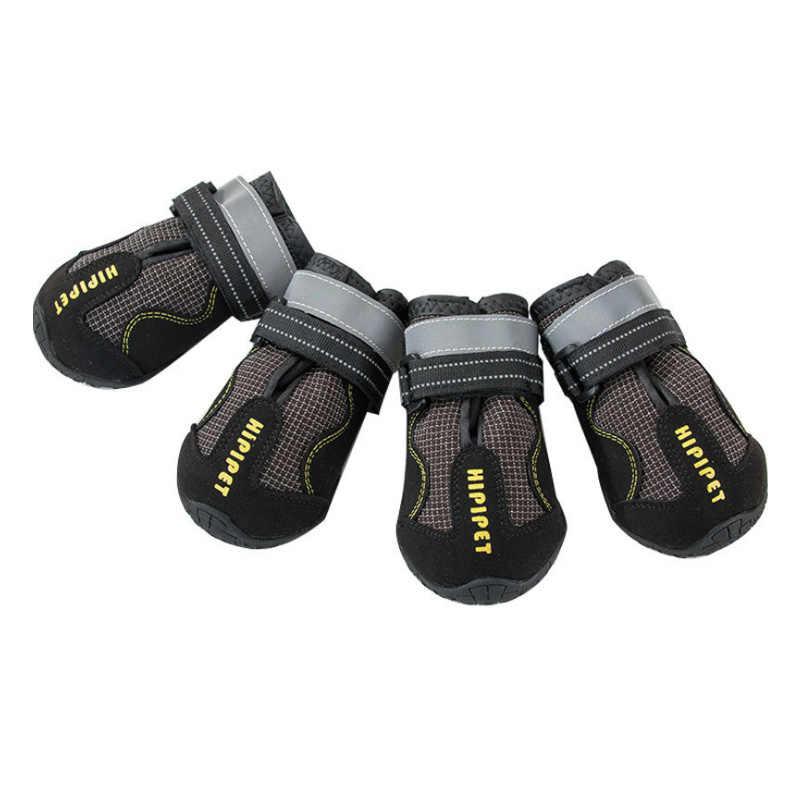 4 Uds. Zapatos para perros botas al aire libre antideslizantes resistentes y calientes para perros medianos a grandes botas de invierno para perros de
