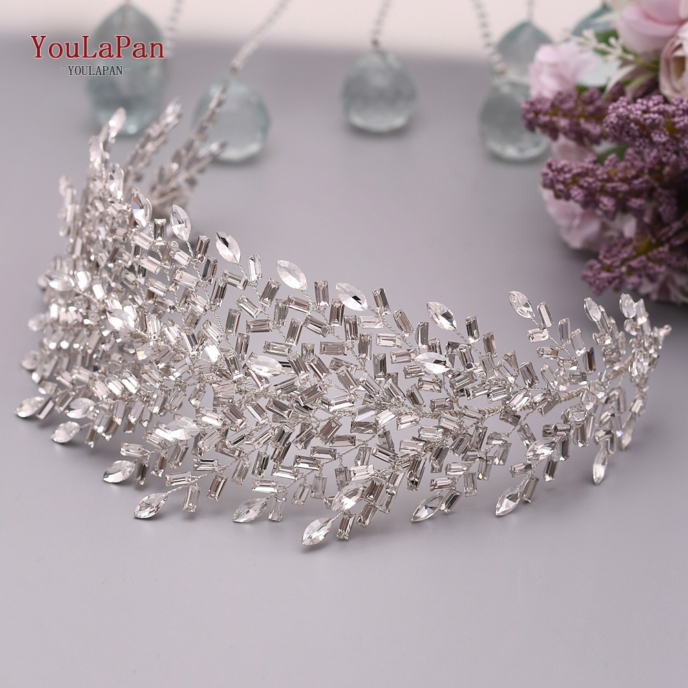 Headbands Tiara Hair-Accessories Bridal-Hair-Pieces Rhinestone Crystal Youlapan Jeweled