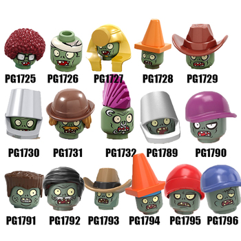 Single Sale Plants vs. Zombies Building Blocks Conehead Bucket Street Dance Baseball Cowboys Figures For Children Toys PG8205 image
