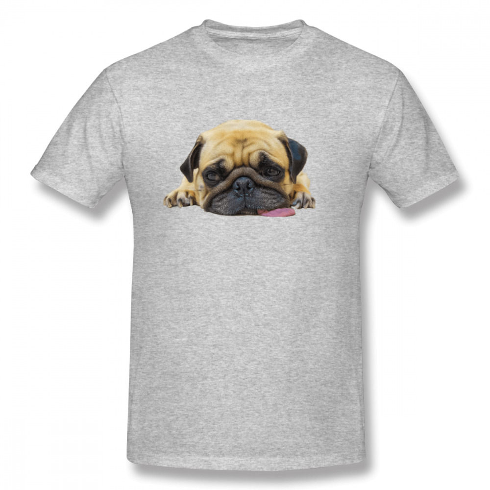 100 cotton Worn Out Pug print casual mens o neck t shirts fashion Men 39 s Basic Short Sleeve T Shirt in T Shirts from Men 39 s Clothing