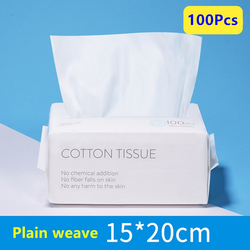 100 Pcs/Pack Pure Cotton Dry Wipes Disposable Paper Towel For Home Kitchen Bathroom Cleansing Soft Cotton Tissue Cleaning Paper
