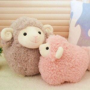 25cm simulação de pelúcia brinquedo de ovelha de pelúcia animais de pelúcia brinquedos de boneca de cordeiro bebê brinquedos macios boneca crianças presente decoração para casa artesanato