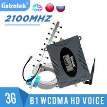 מגבר נייד 3G GSM UMTS 2100 מהדר אות ניידת 2100MHZ תקשורת מאיץ 3g אנטנת 10m קיט LCD Lintratek #8