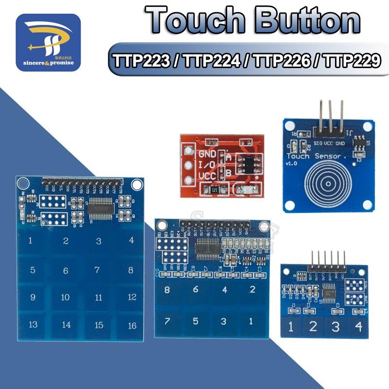 TTP226 8 canaux tactile numérique capteur module capacitive touch switch bouton