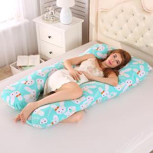 Image 5 - Poduszka do spania zapewniająca wsparcie dla kobiet w ciąży Body 100% bawełniana poszewka w kształcie litery U poduszki ciążowe ciąża boczne podkłady pościel