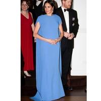 Pregnant mother Megan's unique Blue dress Pregnancy Dress For Photo Shooting Off Shoulder Pregnant Dresses For Women Maxi Matern
