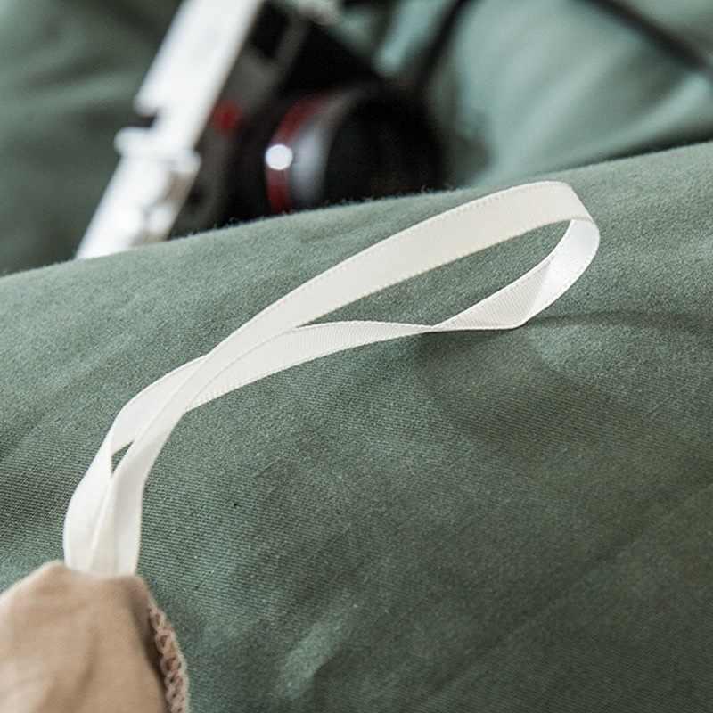 منتج جديد 2020 1 قطعة 100% قطن جودة عالية لون نقي نشط مصبوغ مزدوج اللون غطاء لحاف يمكن تخصيصها الحجم