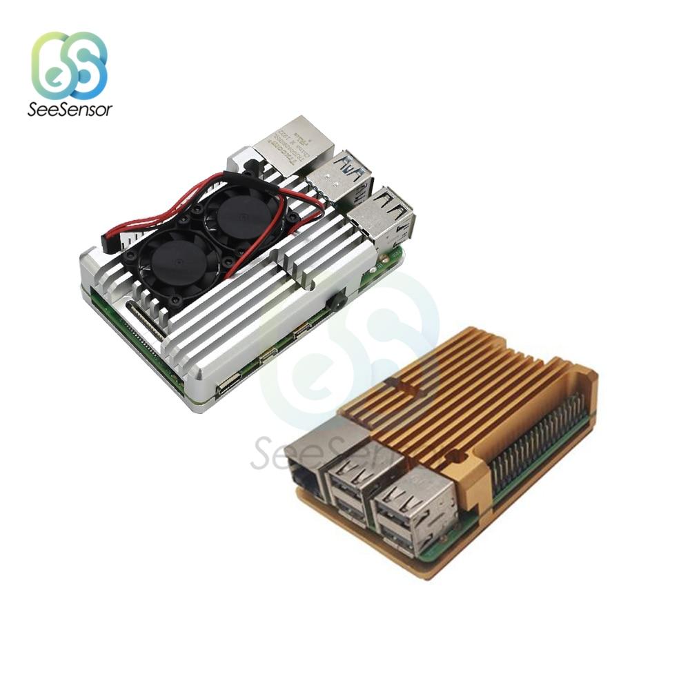 Raspberry Pi CNC Aluminum Alloy Case Metal for 4 Model B