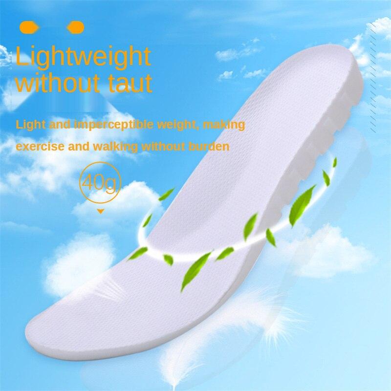 Спортивные эластичные стельки с кинетической энергией, впитывающие пот, с дезодорирующим эффектом, дышащие мягкие стельки из ЭВА 2