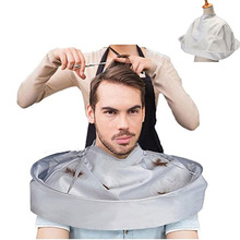 DIY capa de corte de pelo paraguas corte estilo capa paraguas envoltura afeitado delantal peluquería capa cubierta tela Barbero hogar