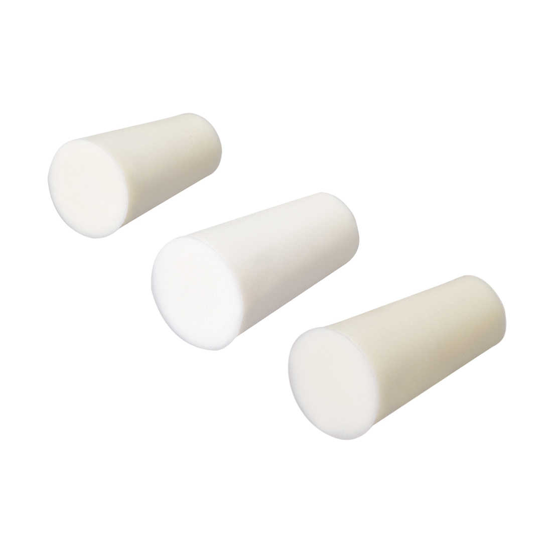 uxcell 9-14mm Beige Drilled Silicone Stopper Plugs for Flask Test Tube Stopper 5pcs