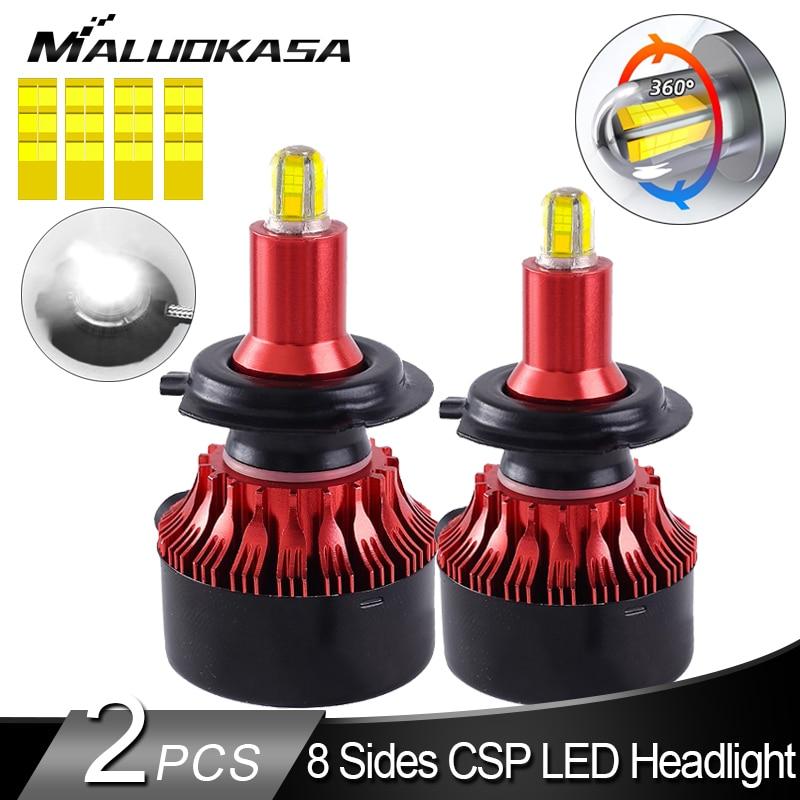 H7 LED Headlight Bulb 8 Sides CSP 360 Shine LED H7 H8 H11 H1 Fog Lights 13500LM LED Car Lights HB3 HB4 LED Bulbs Auto Lamp 12V