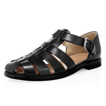 Summer Mens Sandals High Quality Genuine Leather Business Breathable mens gladiator sandals summer