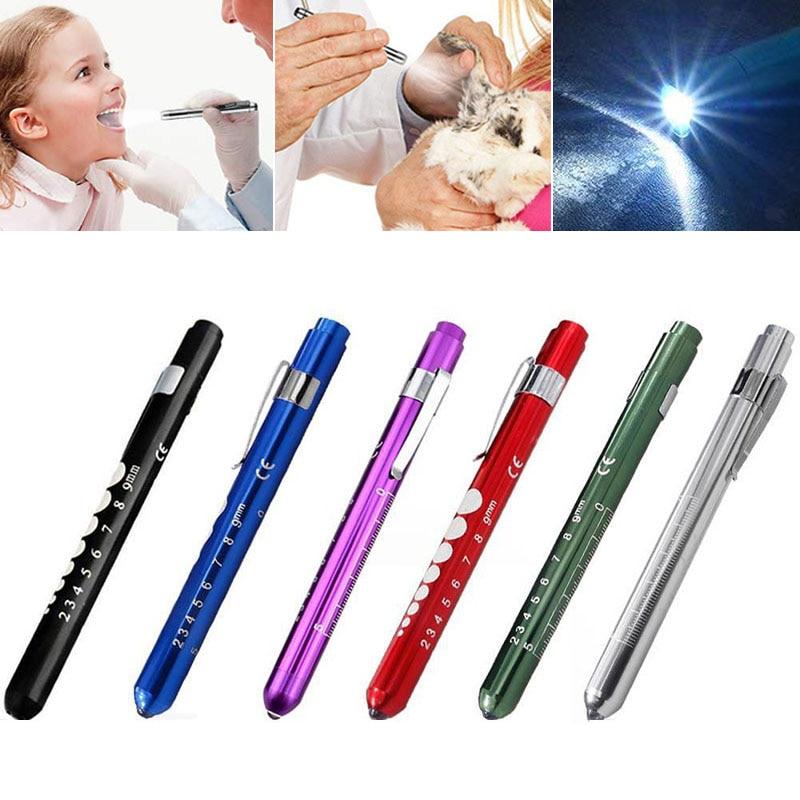 Dental Decoration Portable LED Flashlight Work Light Medical First Aid Pen Light Torch Lamp Doctor Nurse Diagnosis Dentist Gift