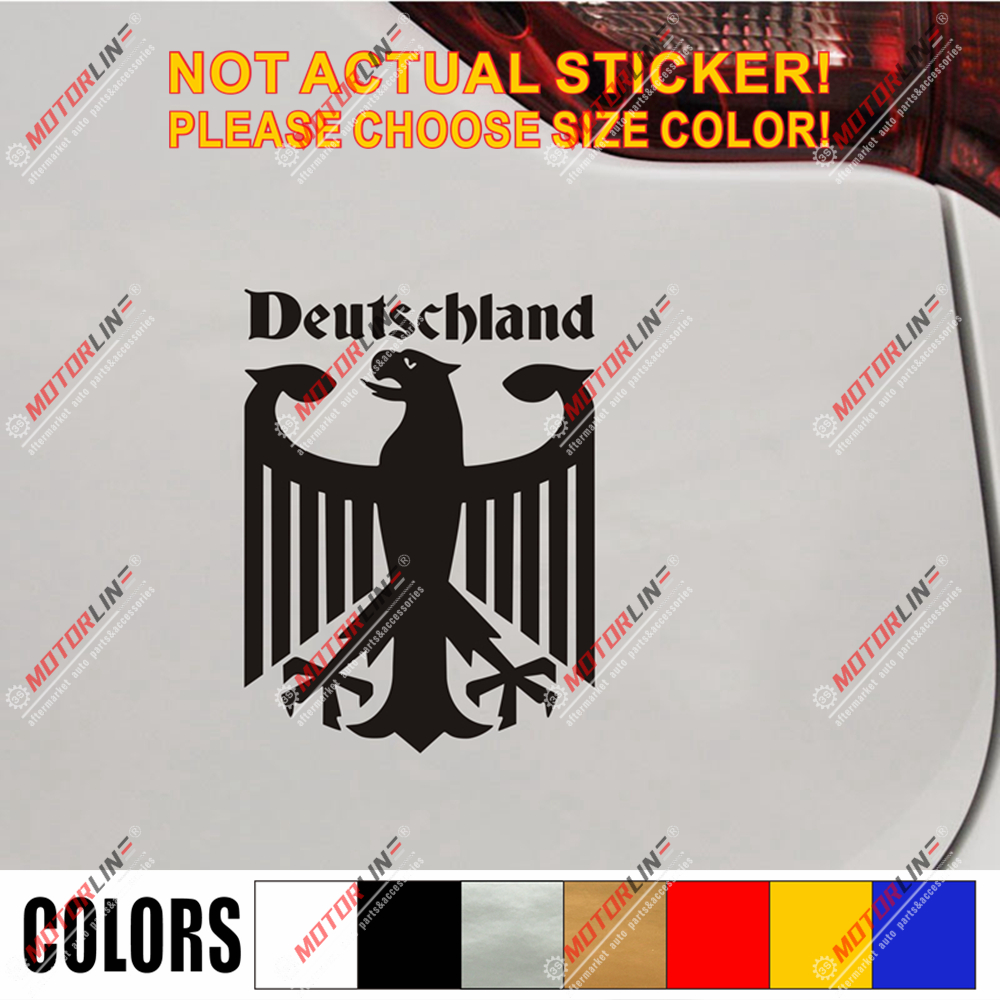 Germany Coat of arms German Eagle Decal Sticker Car Vinyl Deutschland d