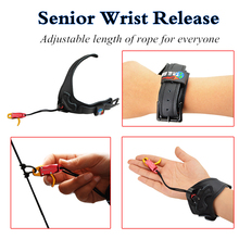 1pc Compound Bow Archery Release Aids Professional Wrist Spear Cowhide and Arrow Forward Trigger Hunting