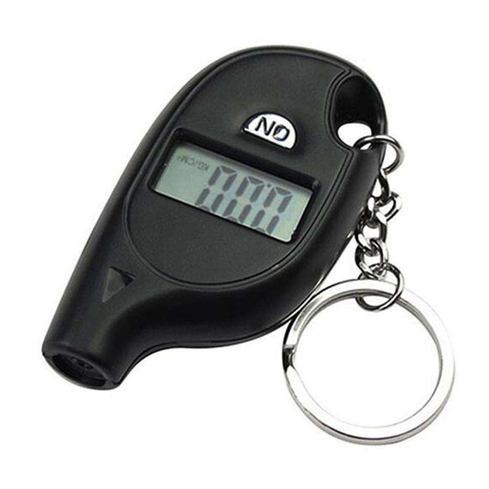 Mini LCD Digital Tire Pressure Gauge TPMS Tools Car Bike Engine Tire Pressure Tester Air Pressure Checker Adapter With Keychain