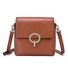 2020 new design cow leather women small crossbody bags lock