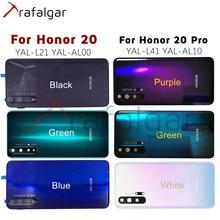 Funda trasera para Huawei Honor 20 Pro de 6,26 pulgadas, cubierta de cristal para batería, puerta trasera de la carcasa, Panel trasero, funda para batería Honor 20 con lente de cámara