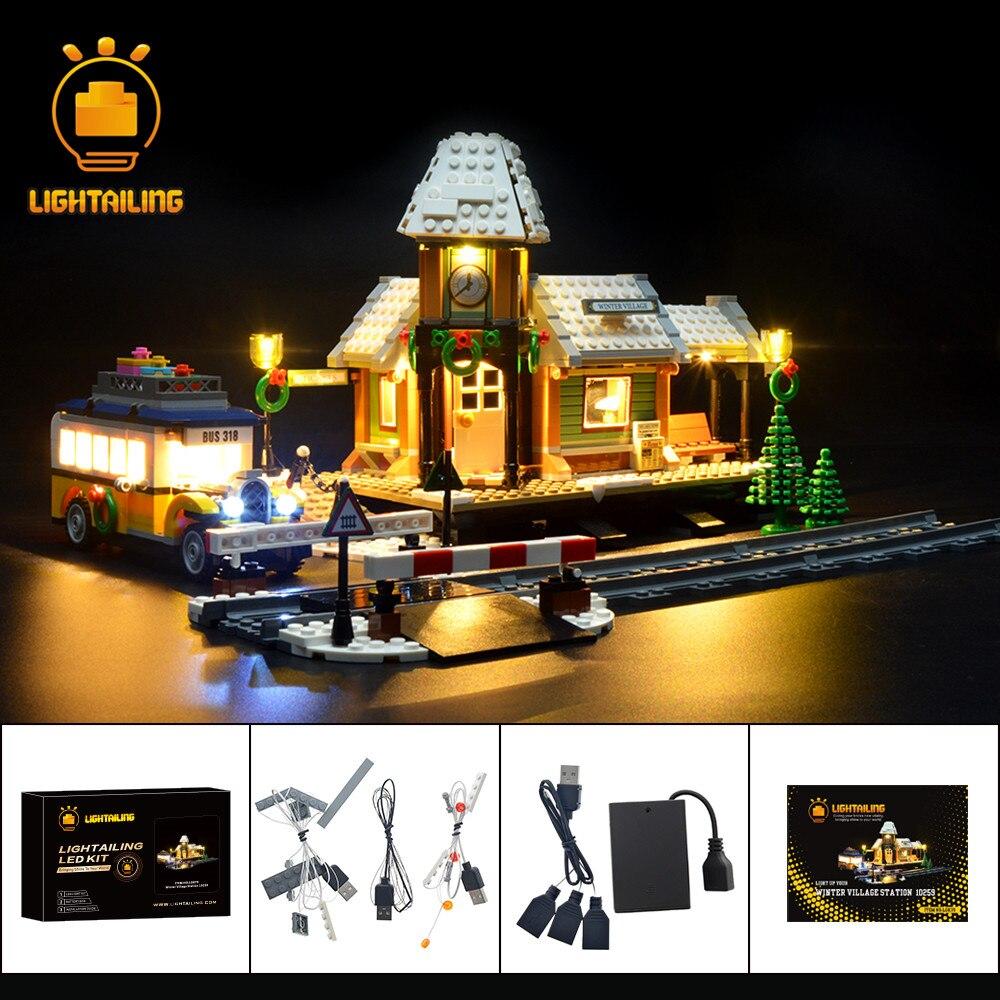 Комплект осветительных приборов LIGHTAILING для оригинальной креативной серии, строительные блоки для зимней деревни, совместимы с моделями 10259