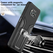 Armor Shockproof Case For Xiaomi POCO X3 NFC X3 Pro Magnetic Metal Ring Stand Holder Bumper Silicone Protective Back Cover Coque