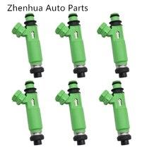 6 개/몫 연료 인젝터 195500 3170 1955003170 MD332733 Mitsubishi  Montero 스포츠 3.0L 6G72 1998 2003