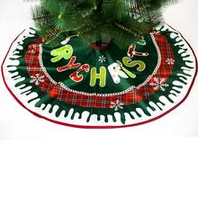 90cm Cartoon Christmas Tree Skirt for Home New Year Decoration