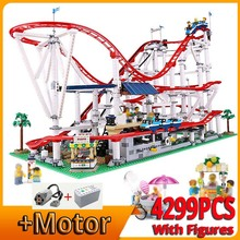 Roller Coaster Bricks Motor Building-Blocks City Advanced 10261 Street-View Model Compatible
