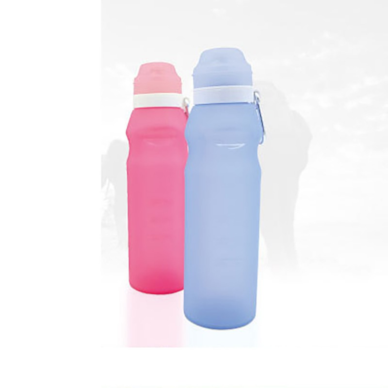BPA Free Silicone Sports Water Bottle Hiking Camping Outdoor Travel Cycling Tour