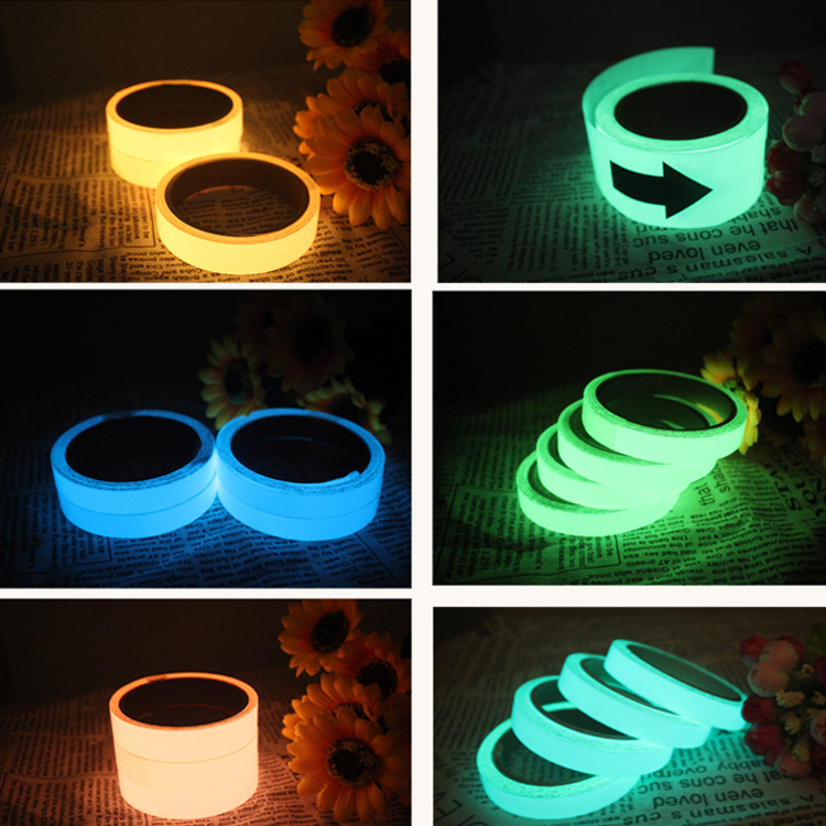 Highlight Night Light Loose Thread Adhesive Tape Self-Shining Adhesive Tape Night Shining 50 M * 20 M Warning Adhesive Tape
