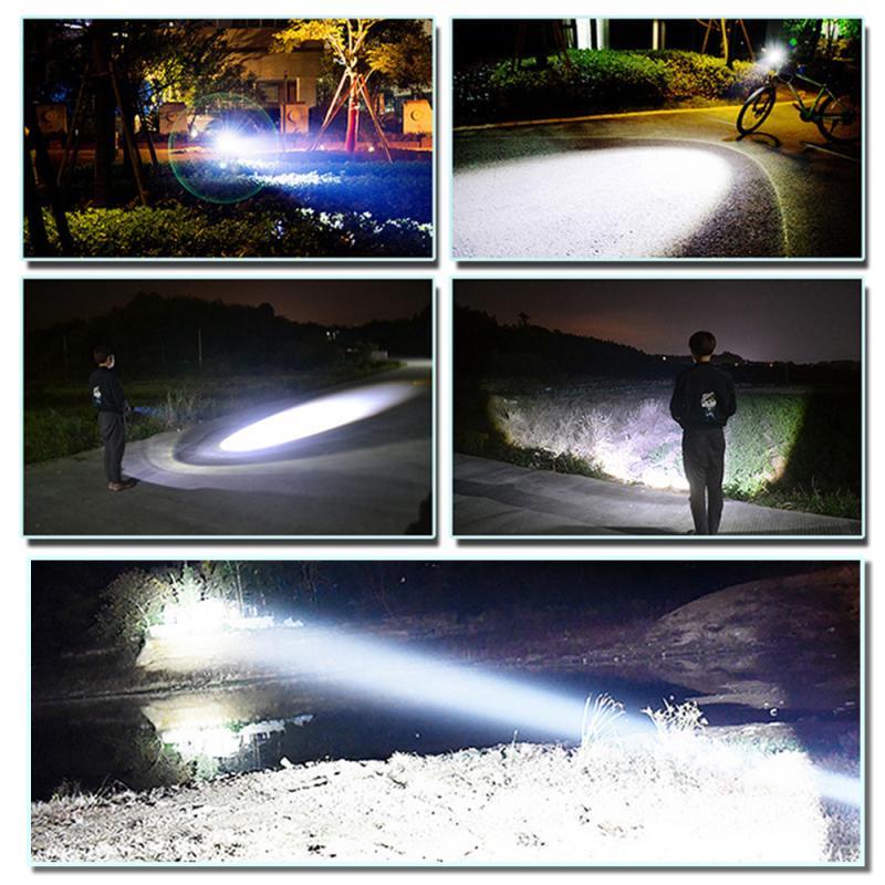 display de energia de carregamento usb lanterna