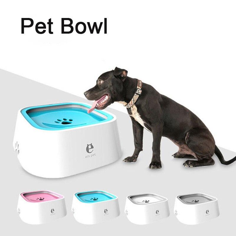 Pet Dog Cat Bowl Floating Bowl Water Drinker Not Wet Mouth Splash Water Cat Bowl Not Sprinkler Water Dispenser Portable Dog Bowl