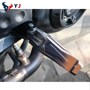 Image 5 - אופנוע באיכות גבוהה עבור YAMAHA NMAX155 NMAX125 N MAX155 N MAX NMAX 155 125 נוסע אחורי דומי רגל נשענת יתדות דוושות