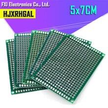 100pcs 5x7cm 5*7 כפול צד אב טיפוס PCB diy אוניברסלי מעגלים מודפסים לוח igmopnrq